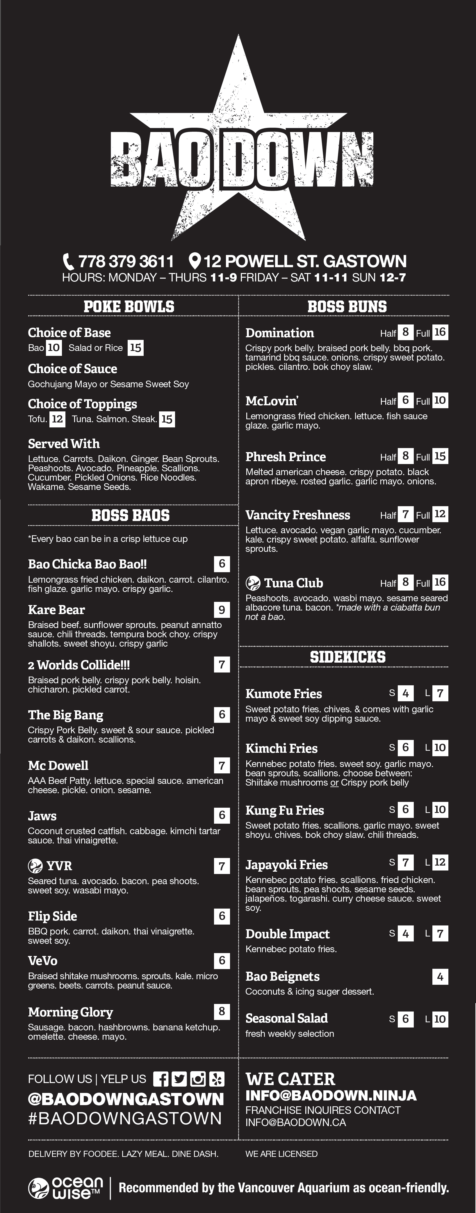 Asian Street Food Menu
